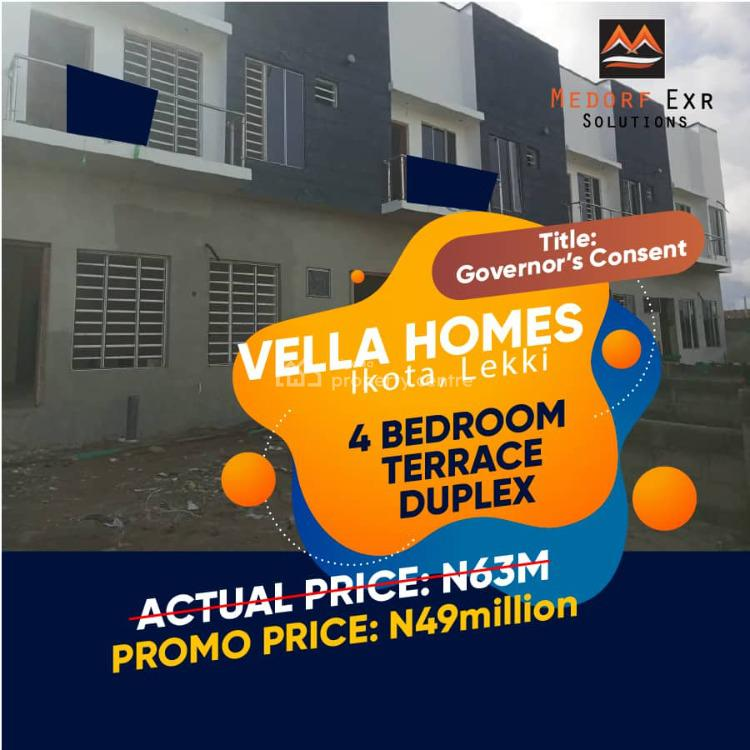 Governors Consent, After 2nd Toll Gate, Chevron, Ikota, Lekki, Lagos, Detached Duplex for Sale