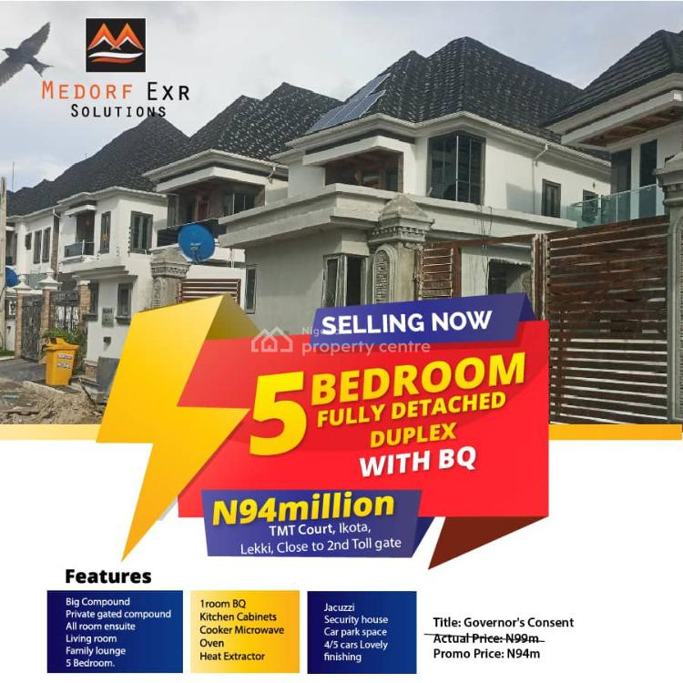 5 Bedroom Fully Detached Duplex + Bq (top-notch), Ikota, Lekki, Lagos, Detached Duplex for Sale