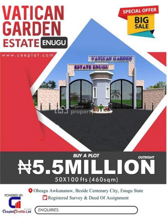 Affordable Land, Vatican Gardens Estate, Obeagu Awkunawnaw, Enugu, Enugu, Residential Land for Sale