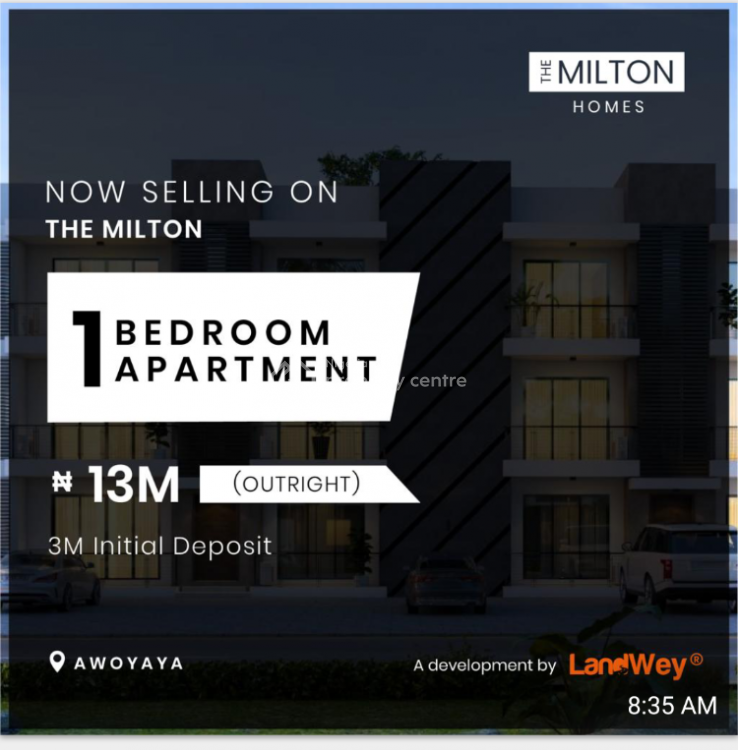 Luxury 1 Bedroom with Excellent Features, Milton Estate, Awoyaya Lekki - Epe Express, Sangotedo, Ajah, Lagos, Self Contained (single Rooms) for Sale