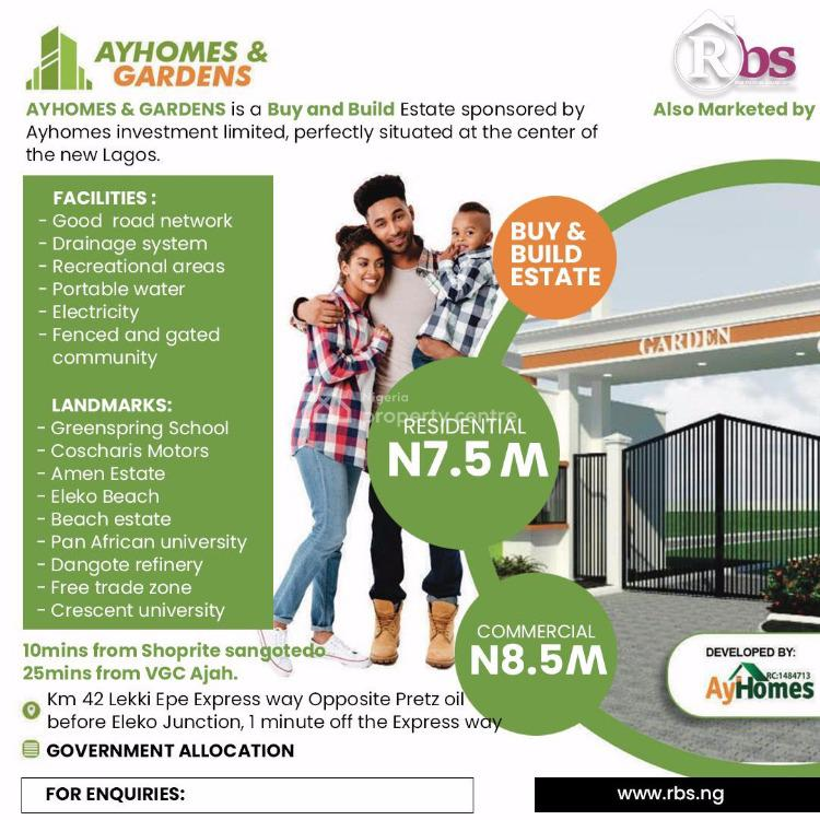 Buy and Build Ayhomes Estate, Epe, Lagos, Mixed-use Land for Sale