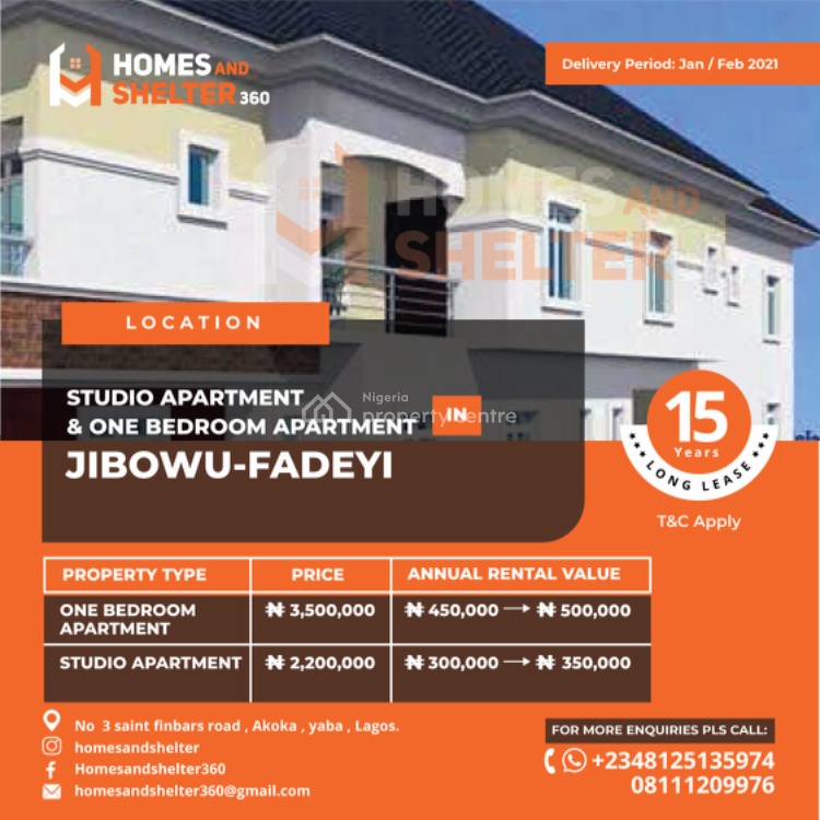 Leasehold Apartment for Investment, Jibowu, Yaba, Lagos, Mini Flat for Sale