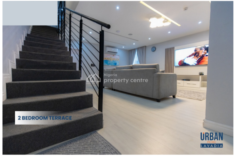 Smart 2 Bedroom Terrace Duplex in an Estate, Abraham Adesanya Near Lekki Phase 2, Lekki Phase 2, Lekki, Lagos, Terraced Duplex for Sale