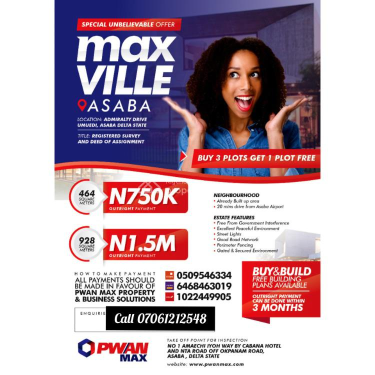 Max Ville Estate Asaba, Oshimili South, Delta, Mixed-use Land for Sale