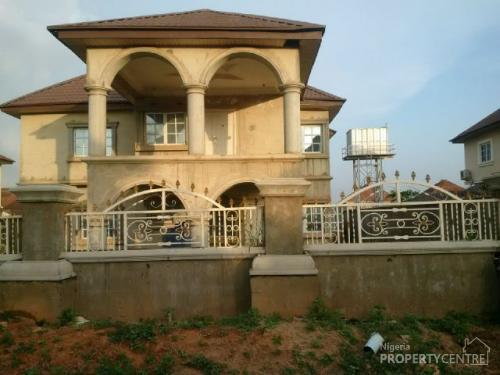 Newly Built 4 Bedroom Duplex with 3 Room Boys Quarters 95% Completed, Valentine Garden Estate, Dakwo, Abuja, House for Sale