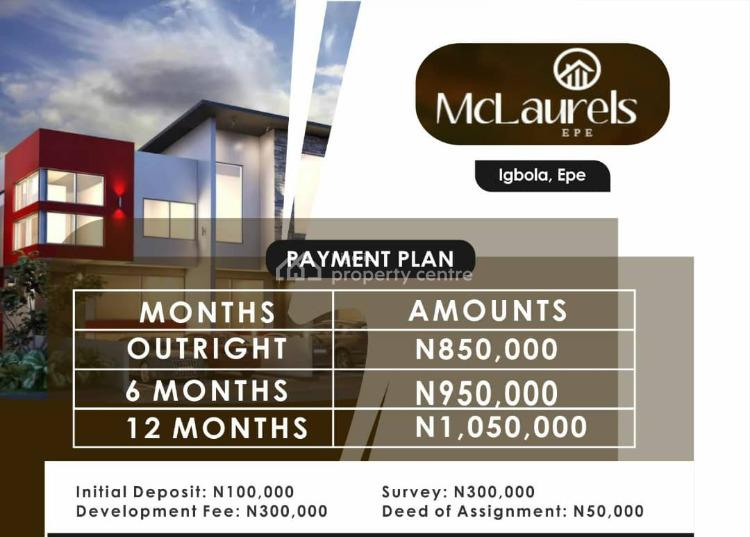 Serviced Plots of Land, Igbola, Epe, Lagos, Residential Land for Sale