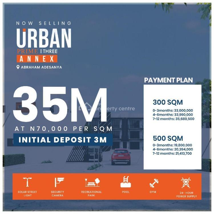 Premium Plot of Land in Prime Location, Urban Prime 3, Abraham Adesanya, Ogombo, Ajah, Lagos, Residential Land for Sale
