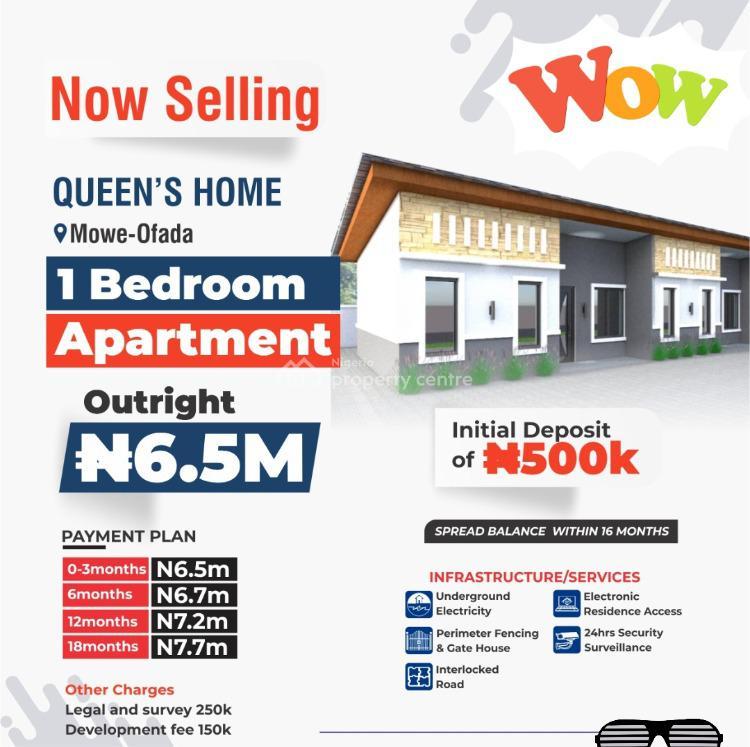1 Bedroom Apartment, Mowe Ofada, Ogun, Block of Flats for Sale