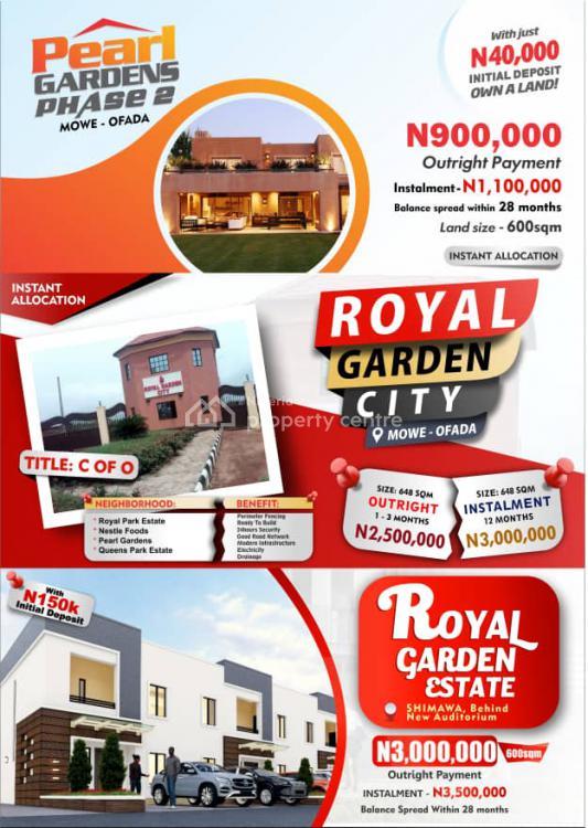 Plots of Land in a Serene Location, Royal Garden City, Mowe Ofada, Ogun, Residential Land for Sale