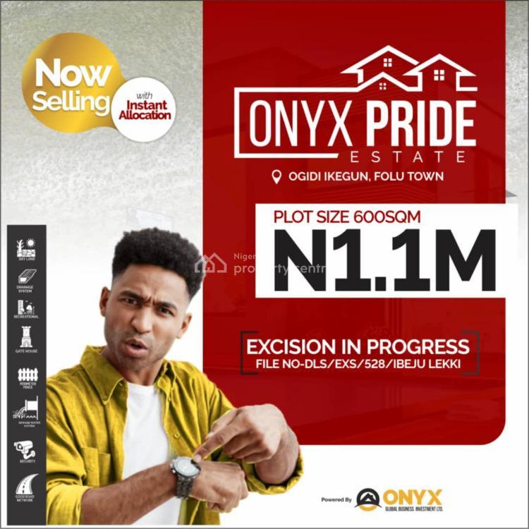 Dry Land, Onyx Pride Estate, Ibeju Lekki, Lagos, Residential Land for Sale