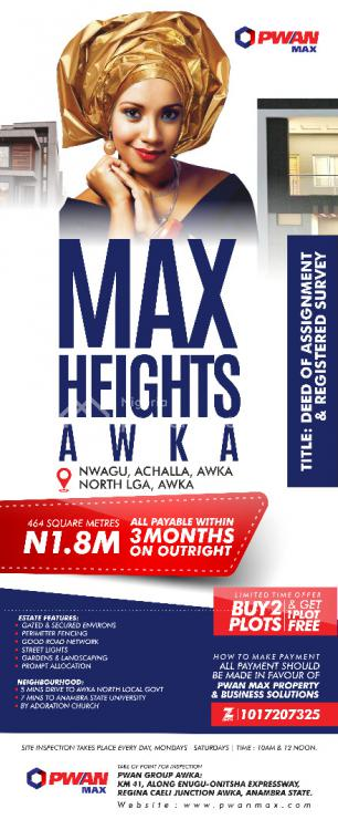 Deed of Assignment and Registered Survey, Nwagu Achalla, Awka North Lga, Awka, Anambra, Mixed-use Land for Sale