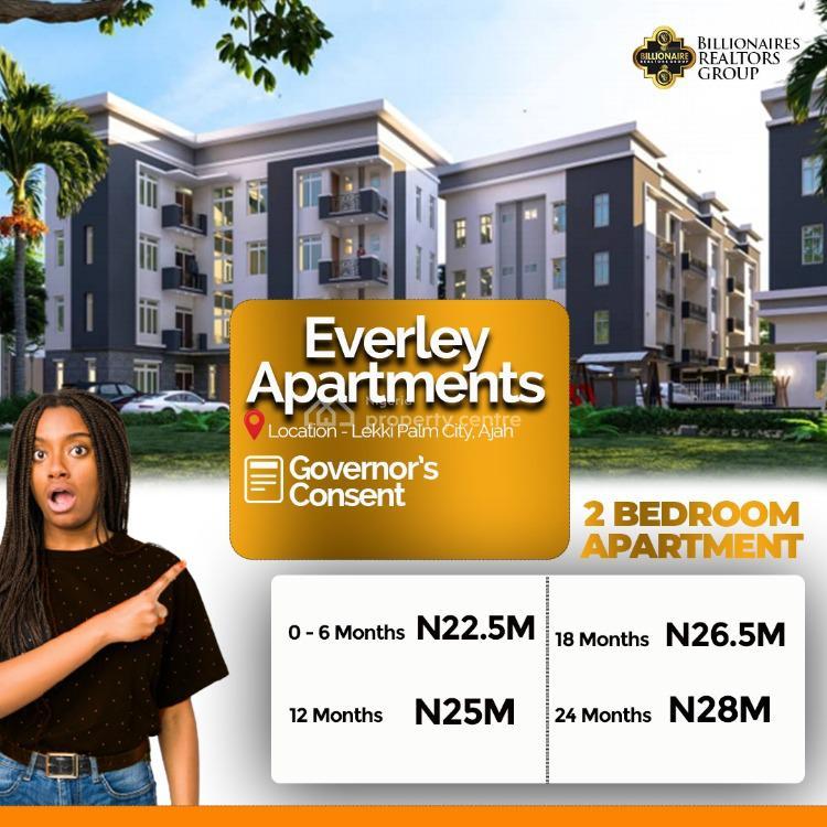 Beautiful 2 Bedrooms Apartment, Everly Apartments, Lekki Palm City Estate, Ajah, Lagos, Flat for Sale