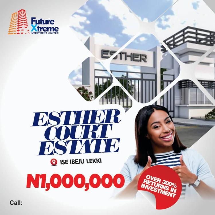 Dry Mixed-use Land, Esther Court Estate Phase1. Less Than Two Minutes Drive From La Campai, Ibeju Lekki, Lagos, Mixed-use Land for Sale