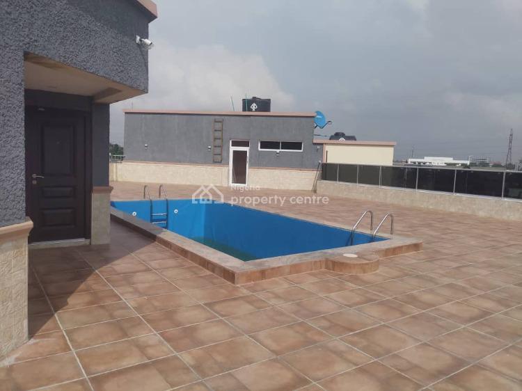 Massively & Superb Newly Built 3 Bedrooms Flat + Bq & Top Roof Pool, Adeniyi Jones, Ikeja, Lagos, Block of Flats for Sale