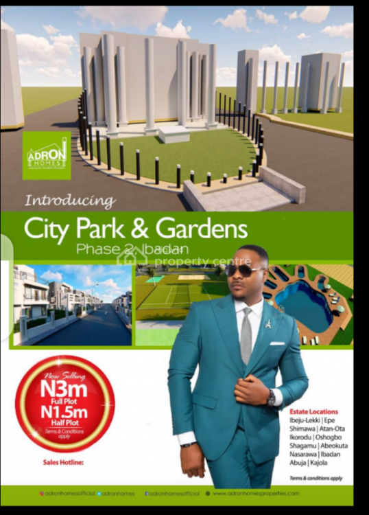 Adron Homes Estate with Installment Payment, City Park and Gardens Phase 2, Asejire, Ibadan, Oyo, Mixed-use Land for Sale