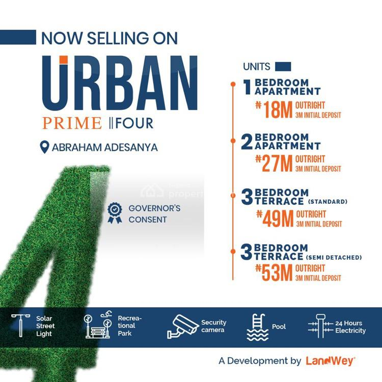 3 Bedroom Apartment Duplex, Abraham Adesanya, Lekki, Lagos, Semi-detached Duplex for Sale