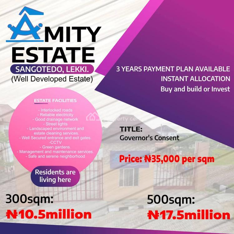 Well Discounted Land with Flexible Payment Plans for Grabs, Amity Estate, 3 Minutes Drive From Sangotedo Shoprite, Abijo, Lekki, Lagos, Residential Land for Sale