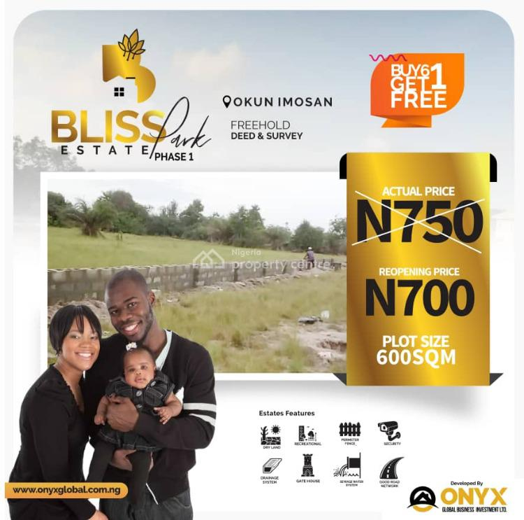 Promo! 700k for a Plot, Bliss Park Estate Phase 1, Okun Imosan, Ibeju Lekki, Lagos, Land for Sale