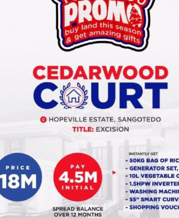 Estate Land, Opposite Blenco, Sangotedo, Ajah, Lagos, Residential Land for Sale