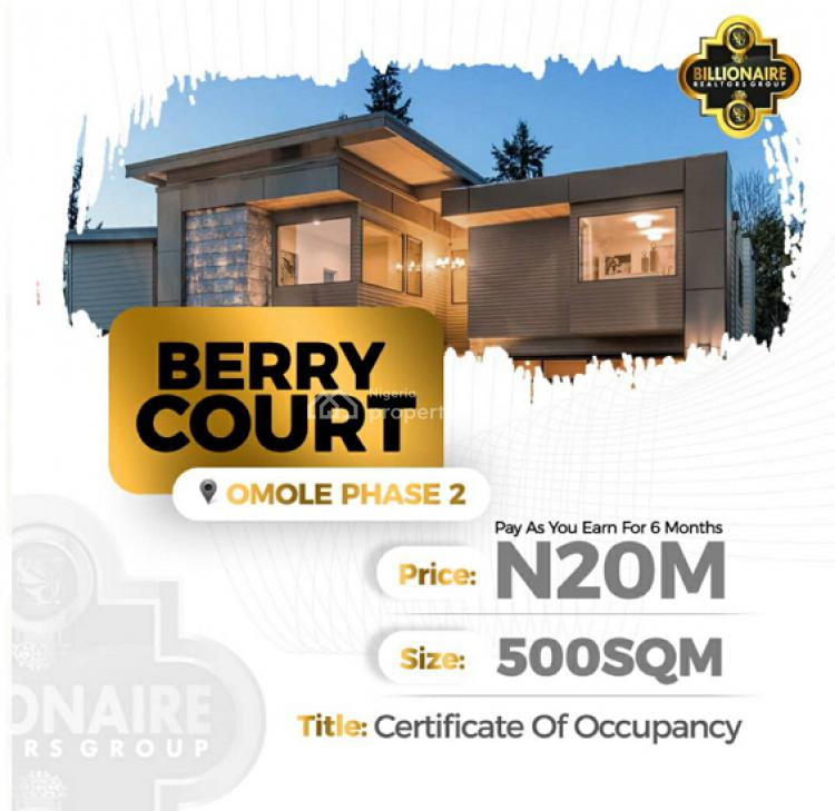 Berry Court Omole Phase 2 Extension with C of O, Omole Phase 2, Ikeja, Lagos, Residential Land for Sale