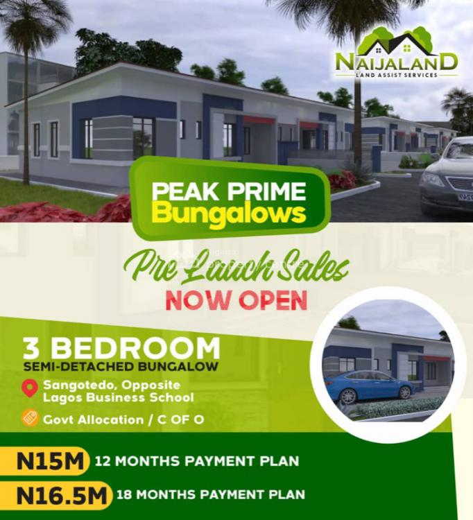 Best Place to Earn Passive Income, Inside Greenland Estate, Sangotedo, Ajah, Lagos, Semi-detached Bungalow for Sale
