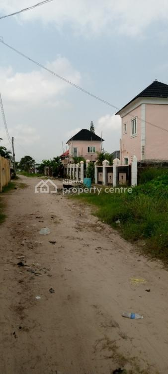 a Plot of Fenced Land with Garman Floor Foundation, Behind Abijo Gra, Ajah, Lagos, Residential Land for Sale