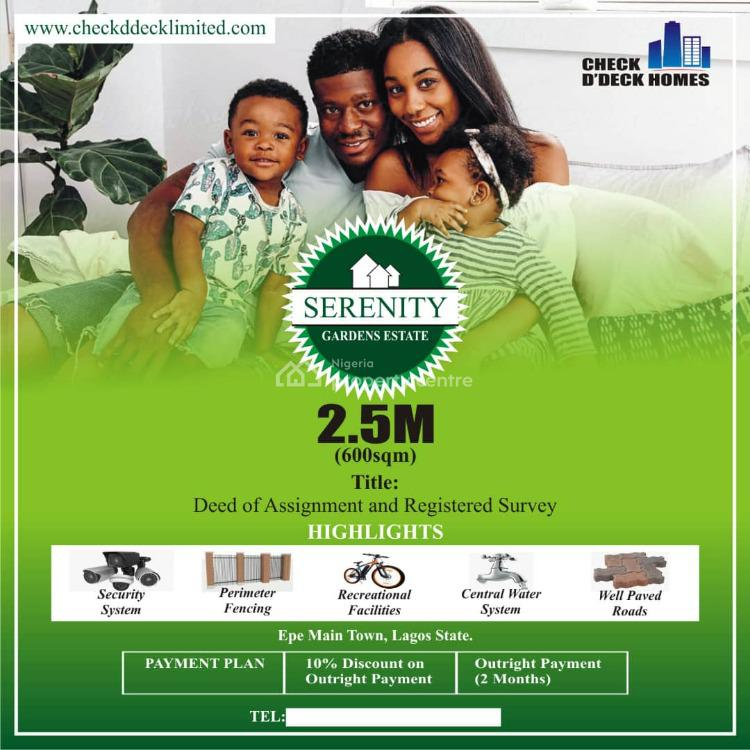 Buy and Build Land Offer at Serenity Gardens Estates, Township, Epe, Lagos, Residential Land for Sale