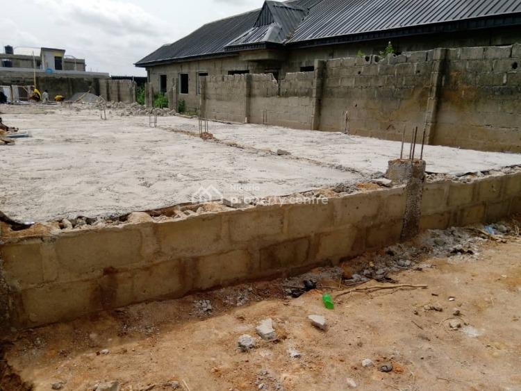 a Professionally Done 3 Bedroom  Flat Foundation, Isuti Off Akesan Road, Alimosho, Lagos, Residential Land for Sale