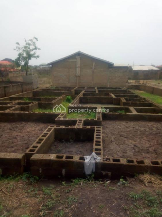 a Standard Plot of Land with Foundation of a 5 Bedrooms Bungalow, Poultry Eleha, Elebu, Ibadan, Oyo, Land for Sale