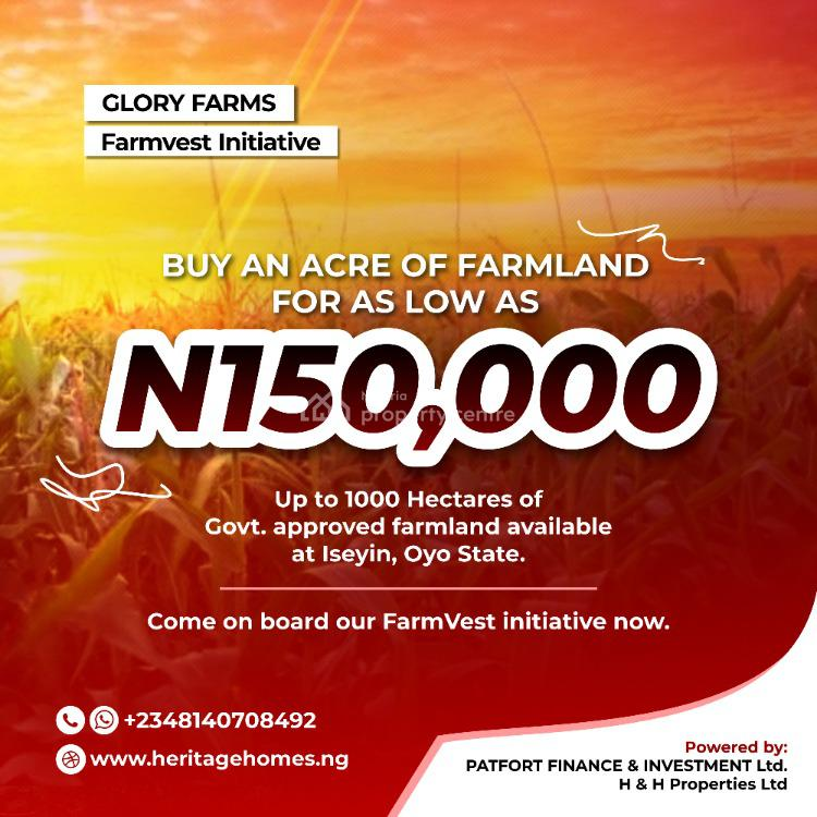 6 Plots/1 Acre of Land for #150k Only, Iseyin, Oyo State., Iseyin, Oyo, Industrial Land for Sale