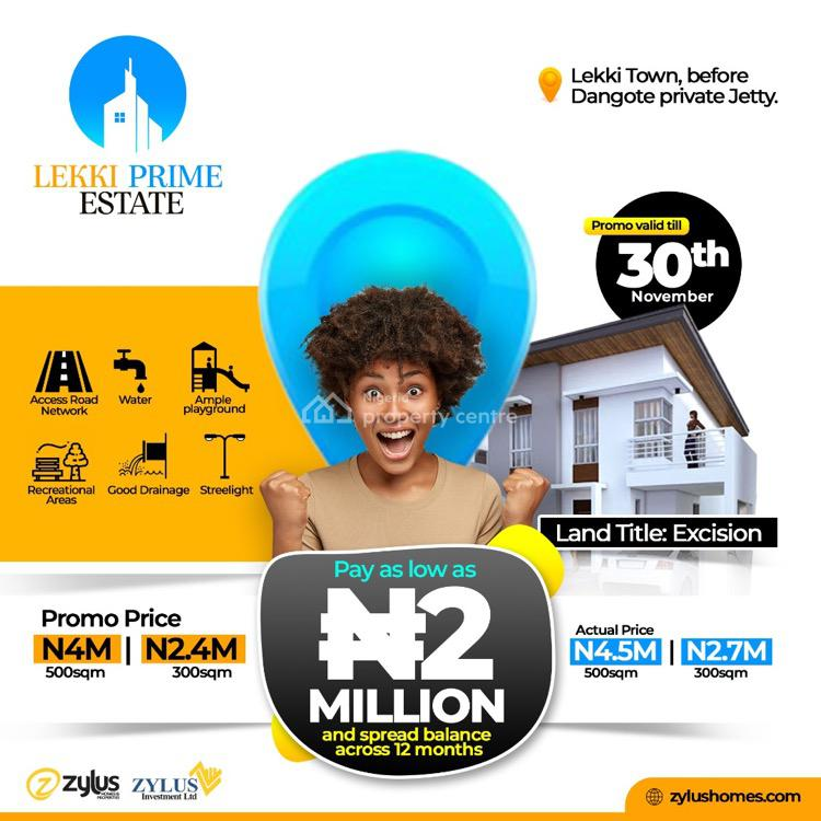 300sqm and 500sqm of Land in a Gated Estate, Ibeju Lekki, Lagos, Residential Land for Sale