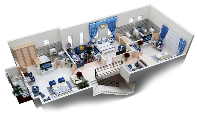 Luxury Serviced 3 Bedroom Terrace Duplex, Ivy Luxuria Estate, Lafiaji, Lekki, Lagos, Terraced Duplex for Sale