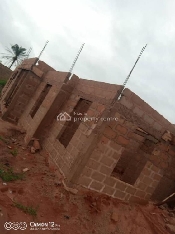 Uncompleted Distress 3 Bedrooms Bungalow with 2 Parlour., Okhoromi Community, Off Airport Rd., Benin, Oredo, Edo, Detached Bungalow for Sale