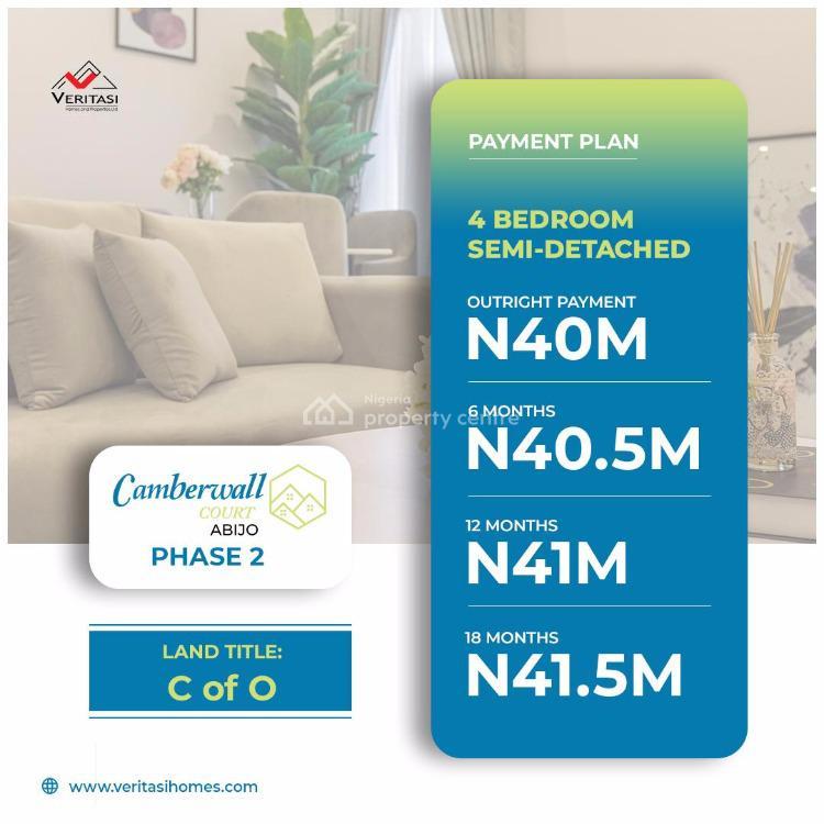 Luxury 2 Bedroom Apartments with Bq, Abijo Gra.  4 Minutes' Drive From Novare Mall Shoprite Sangotedo, Abijo, Lekki, Lagos, Semi-detached Duplex for Sale