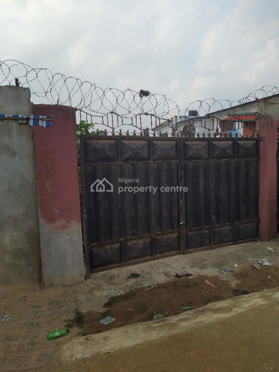 Half Plot of Land with 5 Shops Attached, Emmanuel Osakwe Street Off Isiba Oluwo Unity Estate, Egbeda, Alimosho, Lagos, Land for Sale