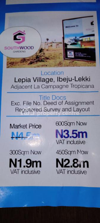 350 Plots of Residential Land with Excision, Southwood Gardens Lepia Village Adjacent to La Campaign Tropicana, Ibeju Lekki, Lagos, Residential Land for Sale