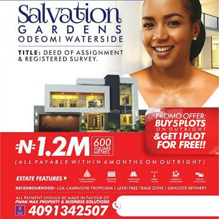 Deed of Assignment and Registered Survey, Salvation Gardens Ode-omi Waterside, Ibeju Lekki, Lagos, Mixed-use Land for Sale