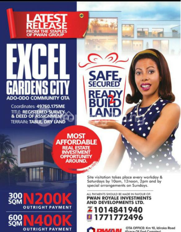 Registered Survey  and Deed of Assignment, Excel Gardens City, Ado-odo/ota, Ogun, Mixed-use Land for Sale