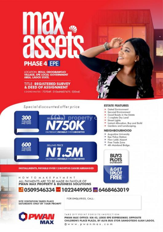 Registered  Survey  and Deed of Assignment, Max Asset Phase 4, Epe, Lagos, Mixed-use Land for Sale