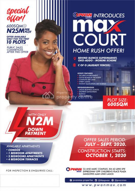 C of O, Max Courts, Ajah, Lagos, Detached Duplex for Sale