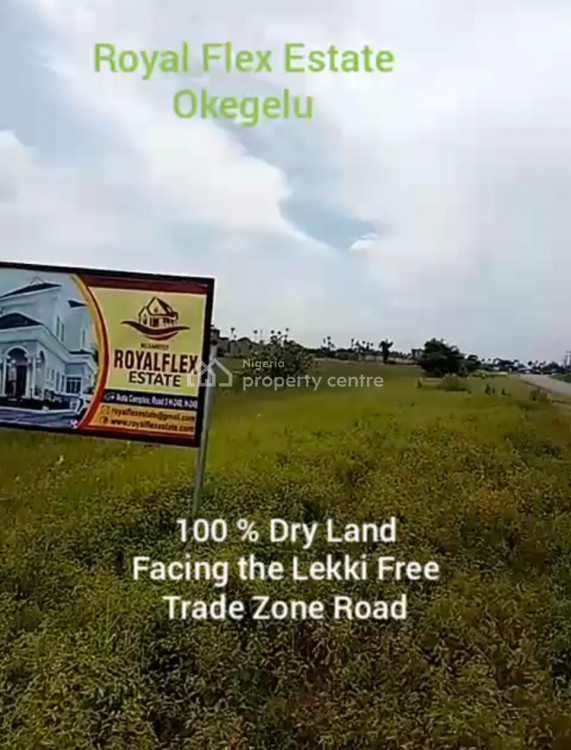 Most Affordable Gated Estate Land Facing The Express, Royal Flext Estate Okegelu, Lekki Free Trade Zone, Lekki, Lagos, Residential Land for Sale