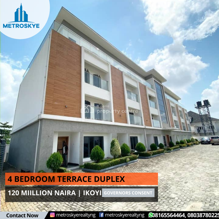 Modern Built 4 Bedroom Terrace, Ikoyi, Lagos, Terraced Duplex for Sale