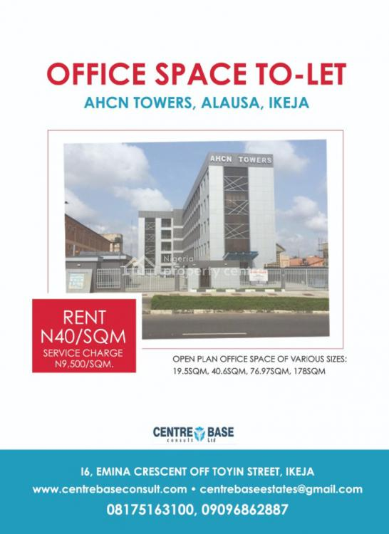 Open Plan Office Space, Cipm Road, By Neca House, Behind Fela Shrine Cbd, Alausa, Ikeja, Lagos, Office Space for Rent