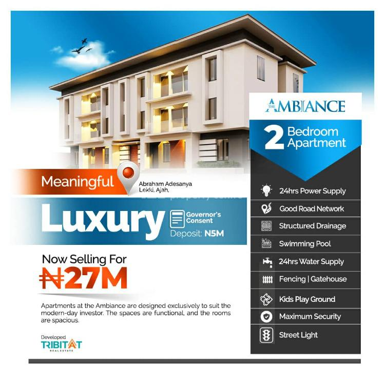 2 Bedroom Apartment, The Ambiance Residence 2 By Lagos Business School, Ajiwe, Ajah, Lagos, Flat for Sale