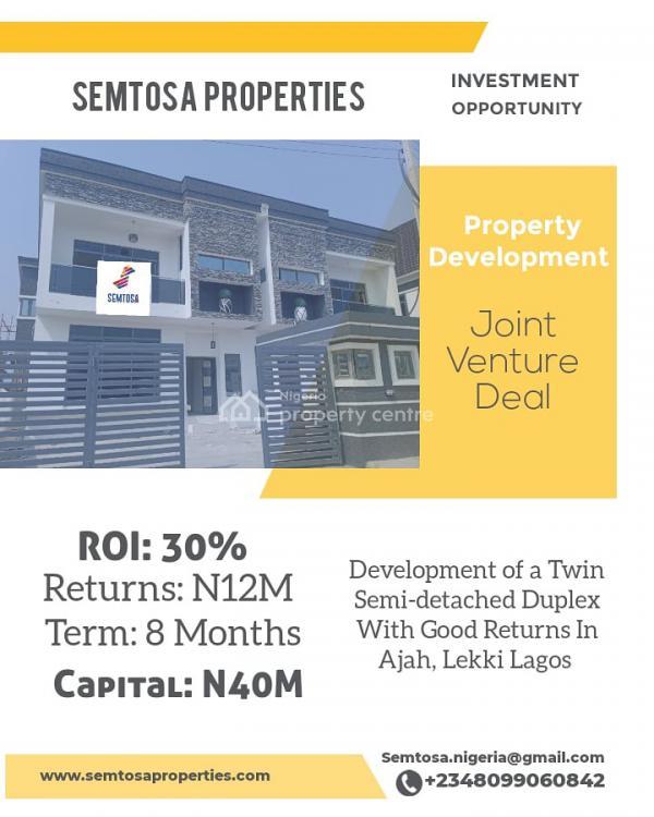 Property Development Deal - 4 Bedroom Semi-detached Duplex, Thomas Estate, Ajah, Lagos, Semi-detached Duplex for Sale