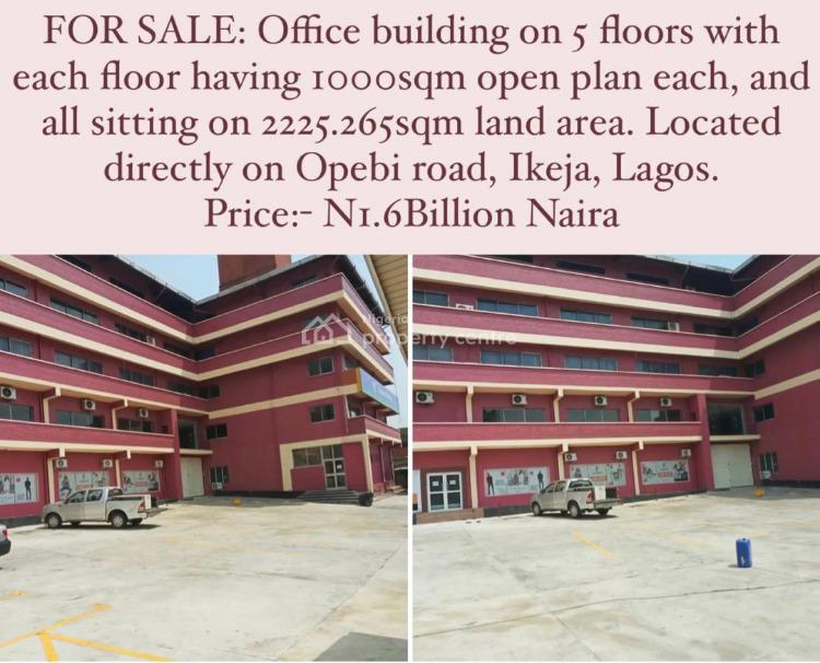 Office Building on 5 Floors with Each Floor Having 1000sqm Open Plan, Opebi, Ikeja, Lagos, Plaza / Complex / Mall for Sale