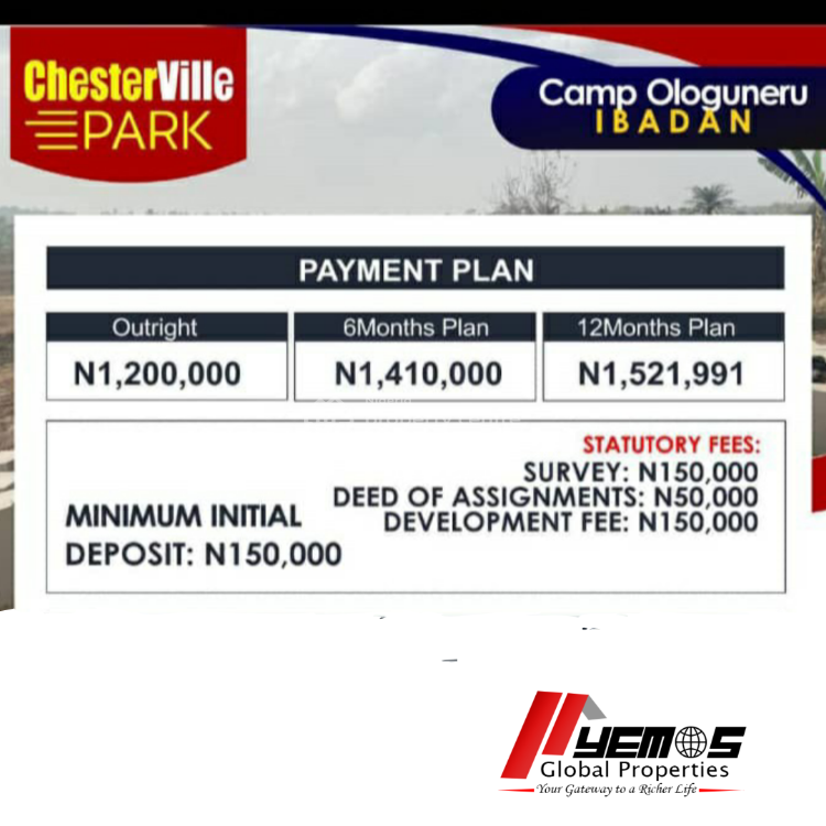 Land, Chester Ville Park, Ologuneru, Ibadan, Oyo, Residential Land for Sale