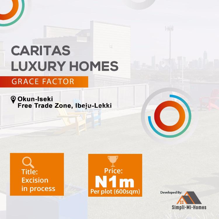 Land, Caritas  Luxury  Homes Grace Factor Okun Iseki, Okunraiye, Ibeju Lekki, Lagos, Mixed-use Land for Sale