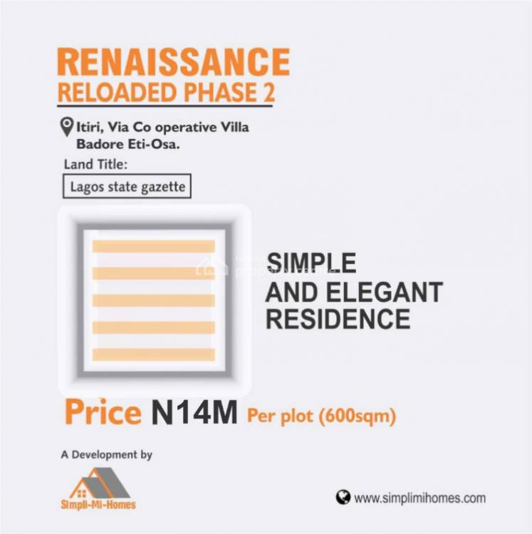 Residential Land with Gazette, Renaissance Reloaded Phase 2 Close to Jonaith Hotel, Badore, Ajah, Lagos, Residential Land for Sale