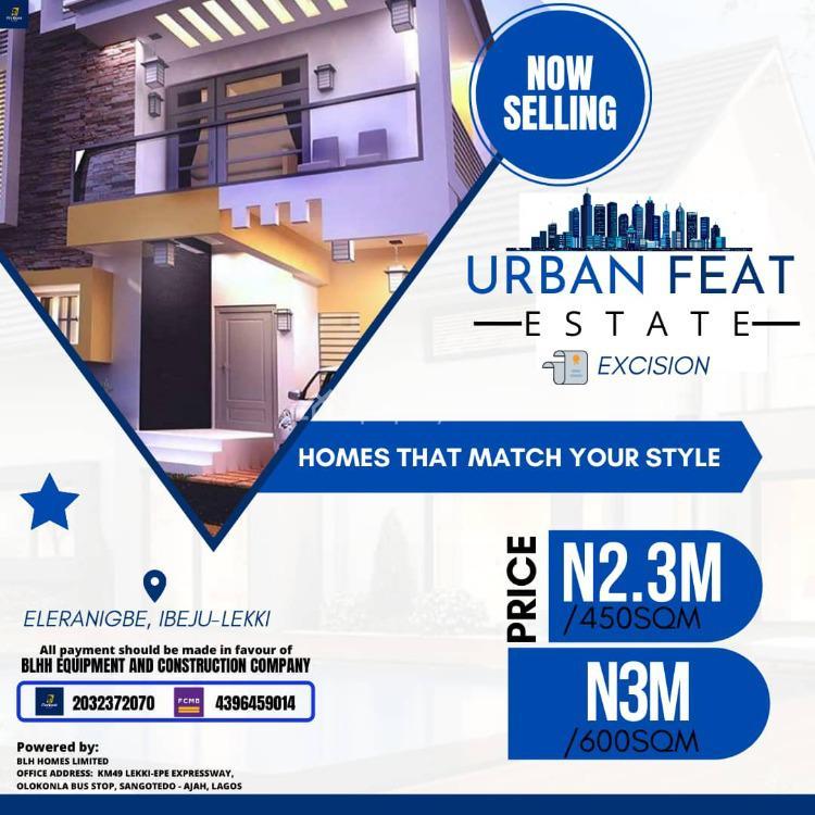 Prime Plot of Land in Good Location, Urban Feat Estate, Ikegun, Ibeju Lekki, Lagos, Residential Land for Sale